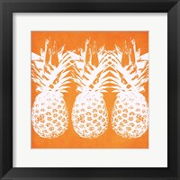 Framed Orange Pineapples