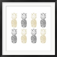 Framed Black and Gold Pineapples
