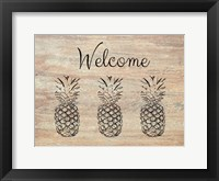 Framed Welcome on Wood