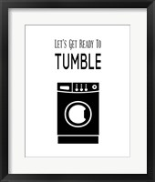 Framed Let's Get Ready To Tumble - White