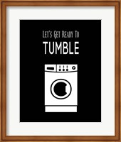 Framed Let's Get Ready To Tumble - Black