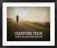 Framed Champions Train Man Color