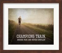 Framed Champions Train Man Color