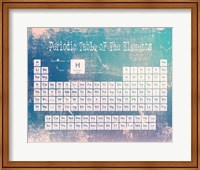 Framed Periodic Table Blue Grunge Background
