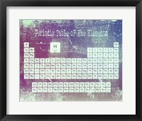 Framed Periodic Table Purple Grunge Background