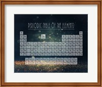 Framed Periodic Table Gold Dust - Blue