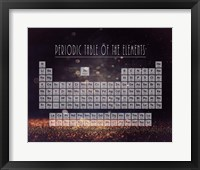 Framed Periodic Table Gold Dust - Purple