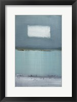 Framed Azure Blue I