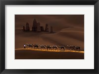 Framed Castle And Camels