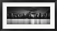 Framed Miami Skyline