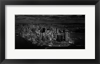 Framed Manhattan - Bird's Eye View