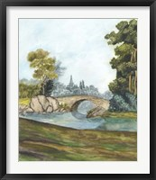 Scenic French Wallpaper III Framed Print