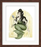 Framed Deco Mermaid I