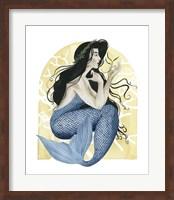 Framed Deco Mermaid IV
