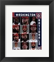 Framed Washington Nationals 2017 Team Composite
