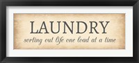 Framed Aged Laundry Sign - Sorting Out Life