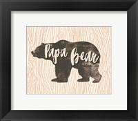 Framed Papa Bear Silhouette