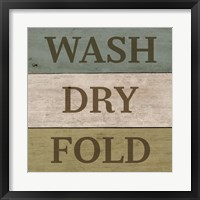 Framed Wash Dry Fold Painted Wood
