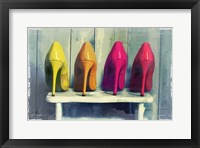 Framed Vintage Fashion Colorful Heels