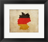 Framed Map with Flag Overlay Germany