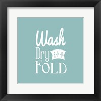 Framed Wash Dry And Fold Blue Background