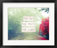 Framed Way The Truth The Light Railroad Tracks