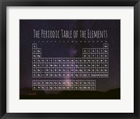Framed Periodic Table Of The Elements Night Sky Purple