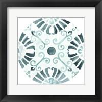 Aqua Medallions V Framed Print