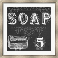 Framed Chalkboard Bath Signs I