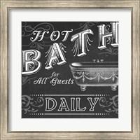 Framed Chalkboard Bath Signs II