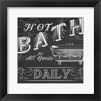 Framed Chalkboard Bath Signs II