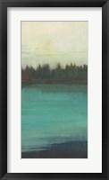 Framed Teal Lake View II