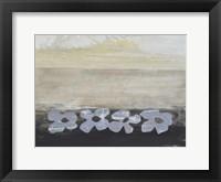 Framed Stenciled Posies V