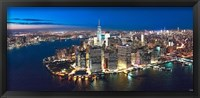 Framed New York Downtown by Night