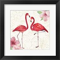 Framed Tropical Fun Bird IV with Gold
