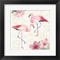 Framed Tropical Fun Bird V with Gold