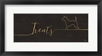 Framed Underlined Dogs III Black