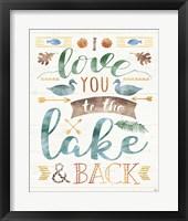 Framed Lake Love II
