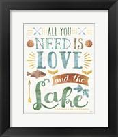 Framed Lake Love I