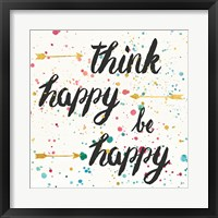 Think Happy II Framed Print