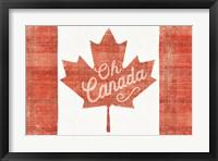 Framed Oh Canada Flag