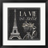 Framed Vive Paris VI