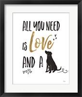 Framed Pet Love II