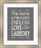 Framed Endless Love and Laundry - Gray
