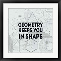Framed Geometry Keeps You In Shape Light Pattern