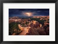 Framed Lightning Over Bryce Canyon