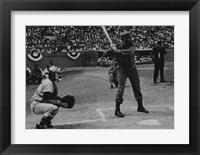Framed Fidel at Bat
