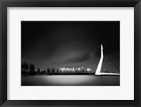 Framed Erasmus Bridge Rotterdam