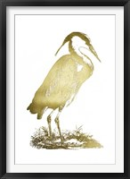 Framed Gold Foil Heron I