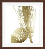 Framed Gold Foil Pine Cones I